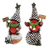 2 Piece Holiday Birds Garden Décor Statue Set