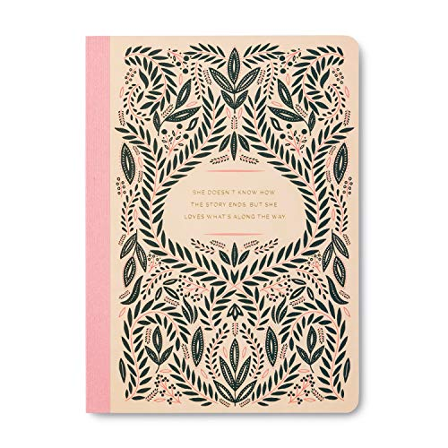 Her Words by Compendium: She Doesn't Know How the Story Ends, but She Loves What's along the Way. - Softcover with lay-flat binding, 80 lined pages