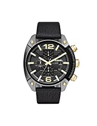 Diesel Men's DZ4375 Overflow Gunmetal Black Leather Watch