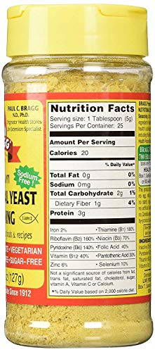 Bragg Nutritional Yeast Seasoning, 4.5 Oz (Pack Of 6) by Bragg (Image #3)