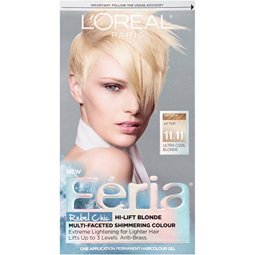 L'Oréal Paris Feria Permanent Hair Color, 11.11 Icy Blonde (Ultra Cool Blonde)