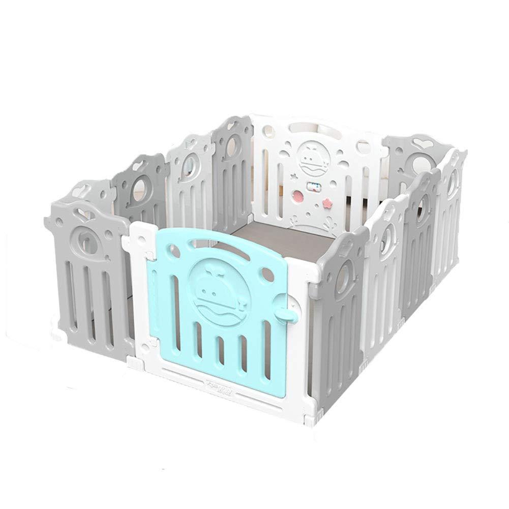 赤ちゃんの囲い 高密度ポリエチレンポータブル子供のプレイフェンスベビークローラープロテクターウォッシャブル屋内遊び場   B07JL1W6ZM