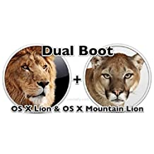 Dual Boot Mac OS X Lion 10.7 and Mountain Lion 10.8 Full Version on Bootable 16GB USB Flash Drive for Installation or Upgrade