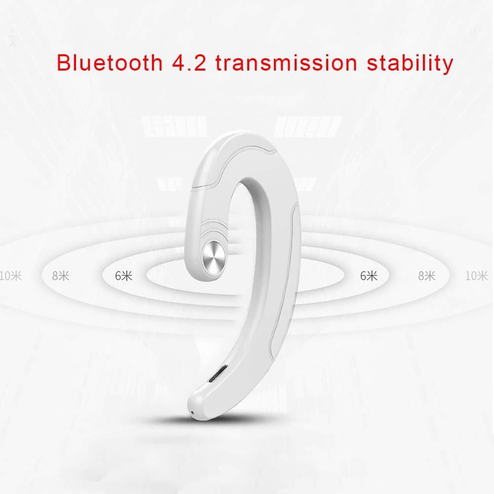 Auriculares inal/ámbricos Bluetooth de conducci/ón /ósea gancho para oreja negro auriculares manos libres auriculares est/éreo de 2,4 GHz Earbuds Earplug 15 metros de rango de transmisi/ón