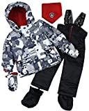 Deux par Deux Little Boys' 2-Piece Snowsuit Mechant Look Black, Sizes 18-36M - 18M