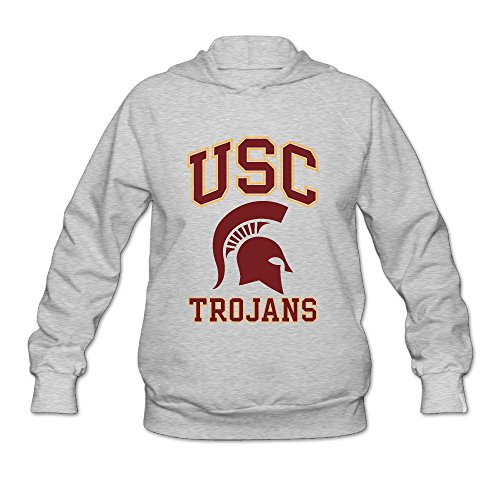 Women's University Of Southern California USC Trojans Lightweight Hoodie Ash (Southern Hoodie California)