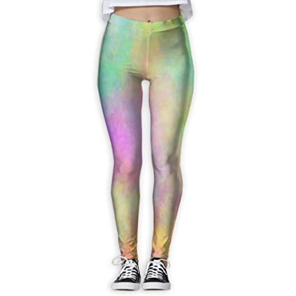 6a279bb42890b Image Unavailable. Image not available for. Color: Women's Girl Pastel  Rainbow Fashion Slim High Waist ...