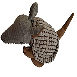 Tinymax Pet Dogs Soft Plush Material and Stitching Playing Training Squeaky Toys (Armadillo)