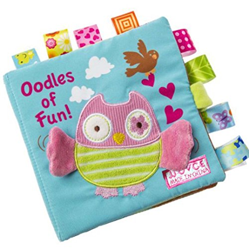 Lisingtool Baby Intelligence Development Toy Book - Animals Owl Soft Cloth Learn Picture Cognize Book,16X16cm