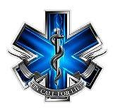 CustomDecal US EMS Logo (Z2) Blue Flames Vinyl
