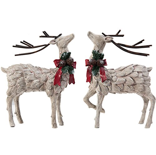 Decorative Christmas Deer Tabletop Statue
