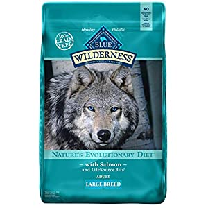 Blue Buffalo Wilderness High Protein Grain Free, Natural Adult Large Breed Dry Dog Food, Salmon 24-Lb 23