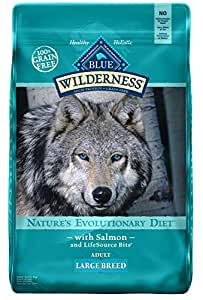 Blue Buffalo Wilderness High Protein Grain Free, Natural Adult Large Breed Dry Dog Food, Salmon 24-Lb
