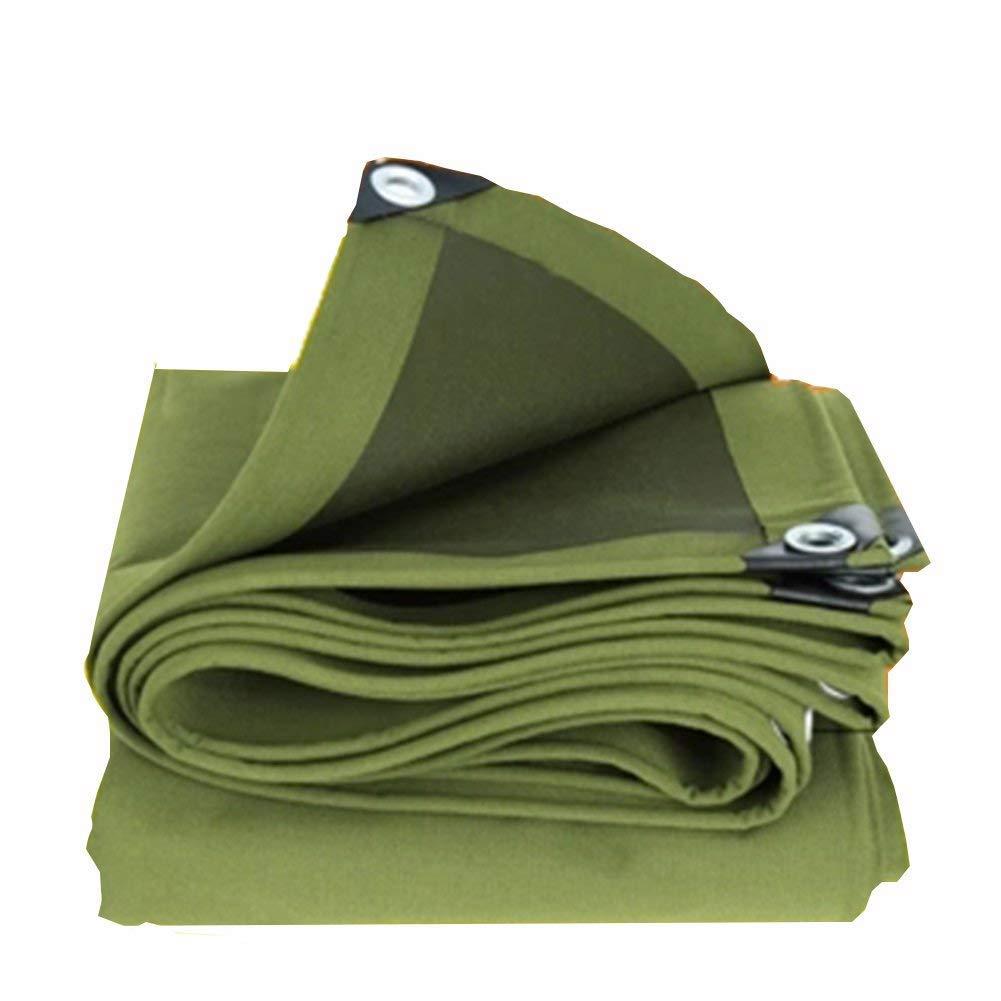 防水グリーンキャンバス防水性高温シリコーン、厚さ0.6mm、マルチサイズオプション(3.8x5.8m) (色 : Green, サイズ さいず : 3.8x3.8m) 3.8x3.8m Green B07KFBS1VK