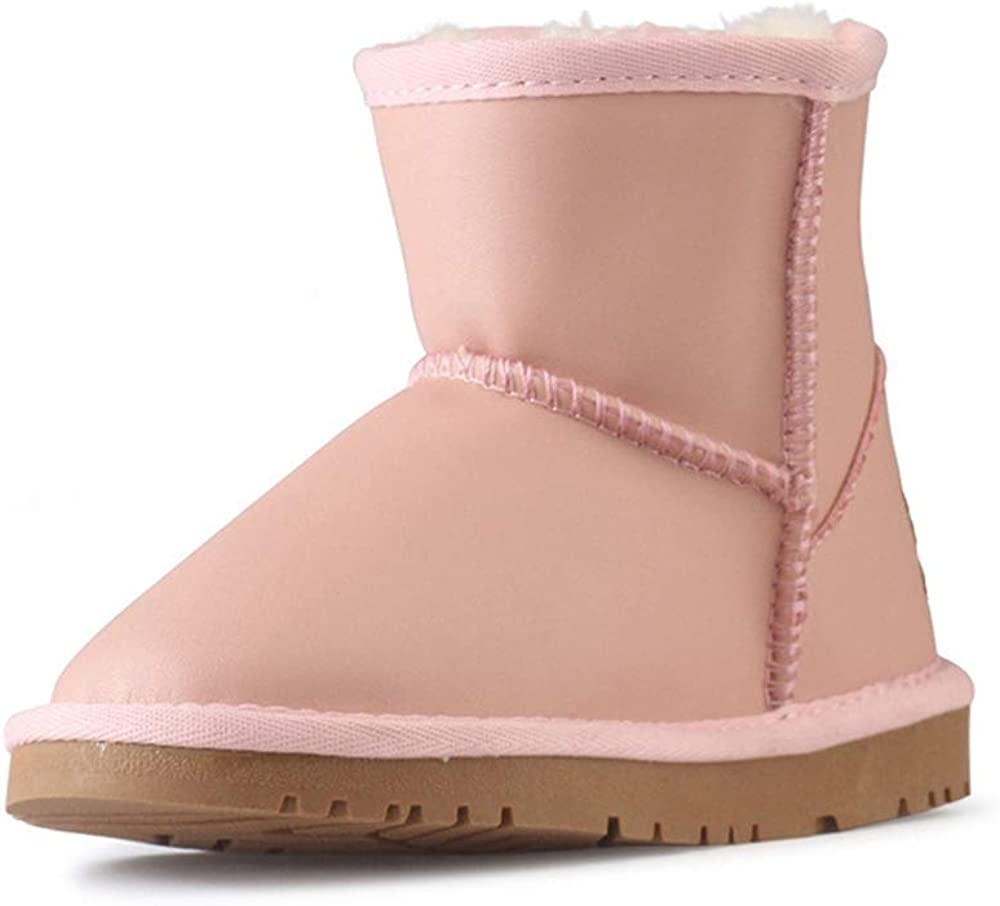 Toddler//Little Kid//Big Kid zgshnfgk Kids Cotton Winter Baby Child Style Cotton Boot Warm Snow Boots EU 32//1 M US Little Kid-Pink