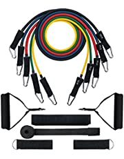 Resistance Bands,TOPELEK Up to 150 LBS Resistance Bands Set & Updated with New Model Door Anchor & Band Guard,Fitness Tubes Set for Building Muscle,Keeping Healthy,at Home/Gym
