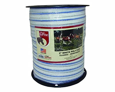 Field Guardian Classic Reinforced Polytape, 2-Inch, White