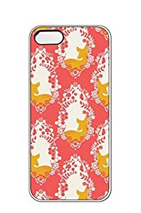 AWU DIYiphone 5/5s case -Decorative fawn on salmon color background pattern -Slim Smooth PC Hard Case Cover foriphone 5/5s