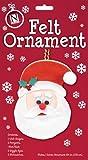 Make Your Own Felt Christmas Ornament Kit, Santa, Wholesale Pack of 12 Kits