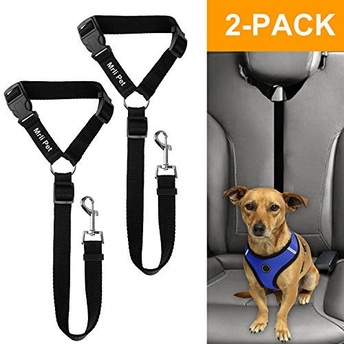 Mrli Pet Doggy Car Headrest Restraint - Animal Safety Seat Belt Strap - Adjustable Nylon Fabric Harness for Dog – Easy Vehicle Travel with Pet – Durable Zipline & Tether Backseat for Traveling (Animal Restraint)