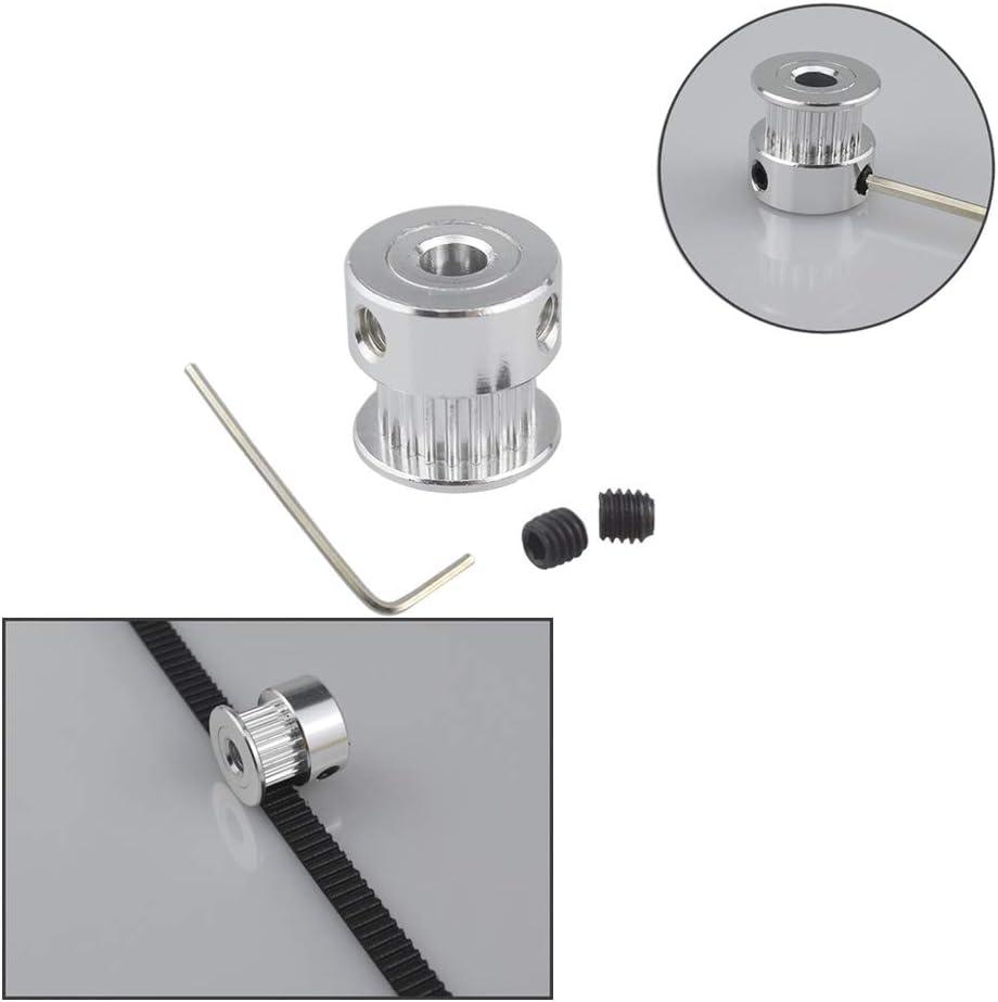 10Pcs Timing Belt Pulley FULARR 20Pcs Premium Aluminum GT2 Pulley Kit 10Pcs Timing Belt Idler Pulley 20 Teeth 5mm Inner Bore for 3D Printer 6mm Width Timing Belt