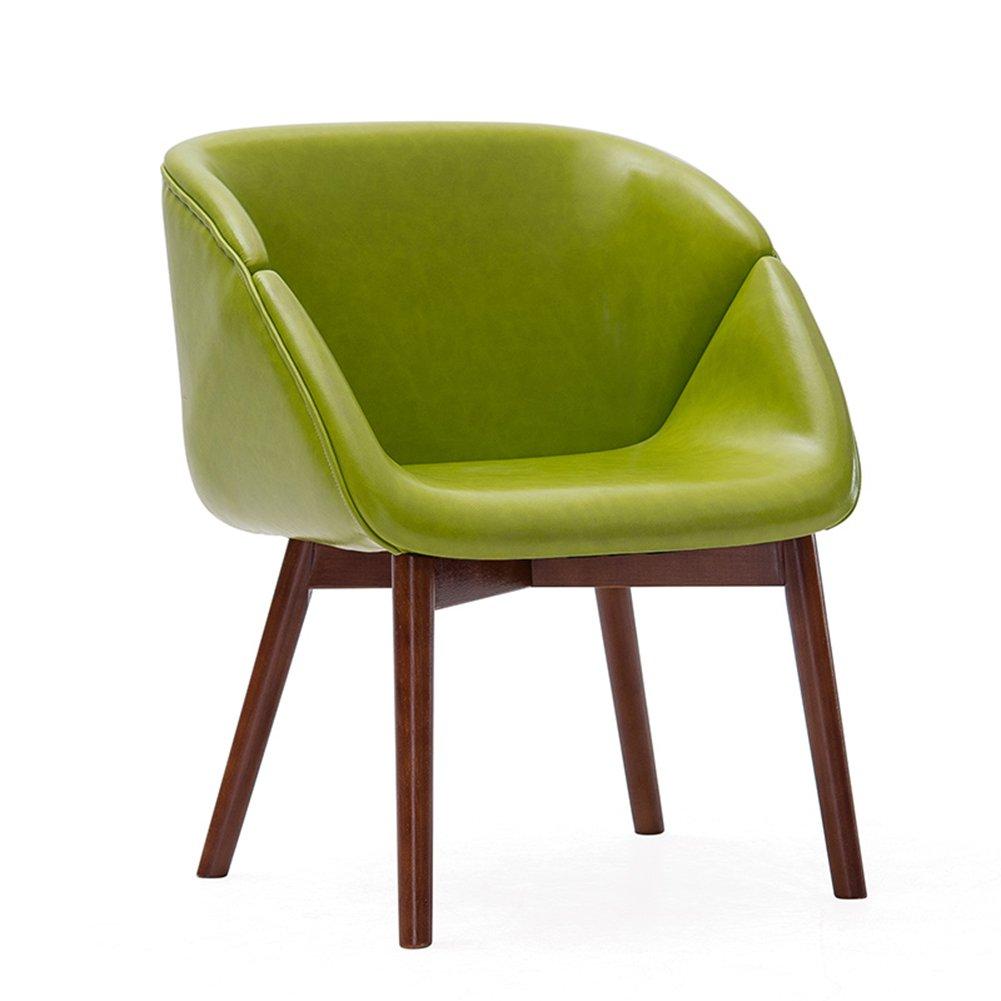 快適なダイニングチェアリビングルームスタディーレストランゲストルームウッドアバンギャルドシンプルなファッションカジュアルコーヒーチェア (色 : 緑, サイズ さいず : Set of 1) B07F2DBHPY Set of 1|緑 緑 Set of 1