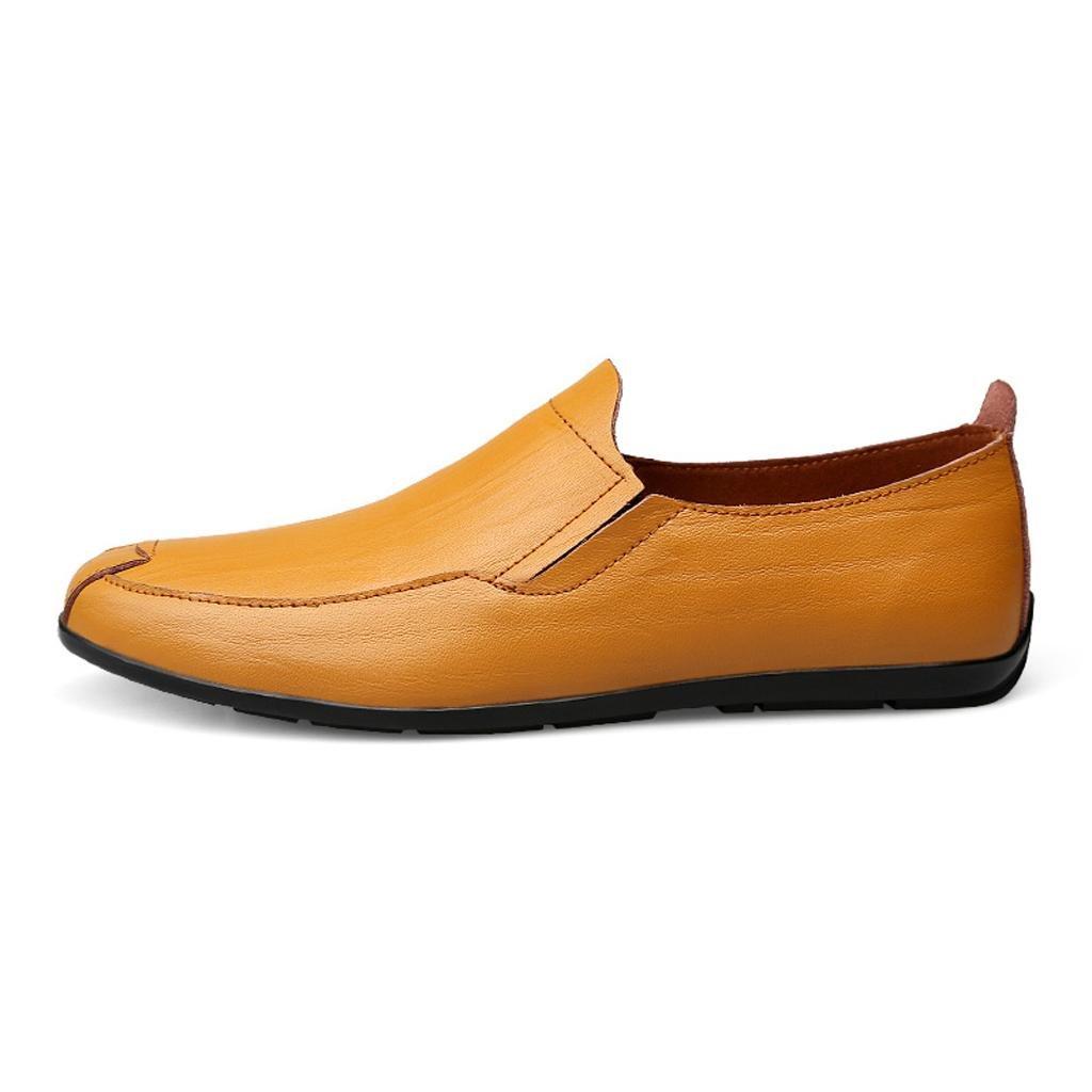 M&M Herrenlederschuhe Lässige Schuhe Arbeitsschuhe Arbeitsschuhe Arbeitsschuhe Spitzenschuhe Gezeitenschuhe Outdoor Schuhe Yellow e6bc84
