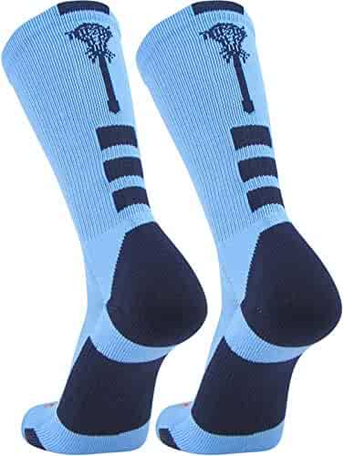 8b1d1a077 TCK Sports Elite Lacrosse Logo Performance Crew Socks