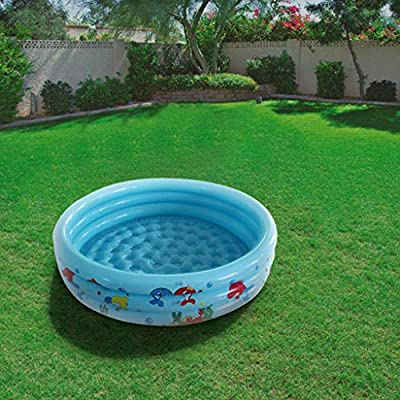 Inflatable Pool, Blow Up Family Pool for Kids, Toddlers & Adult, Kiddie Pools, 37.4