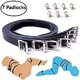 Body Combination Restraint Leather Belt - Davidsource 7 Pieces/Set Faux Leather Black Belt Body Combination Bondage Restraint Straps SM Binding Kit