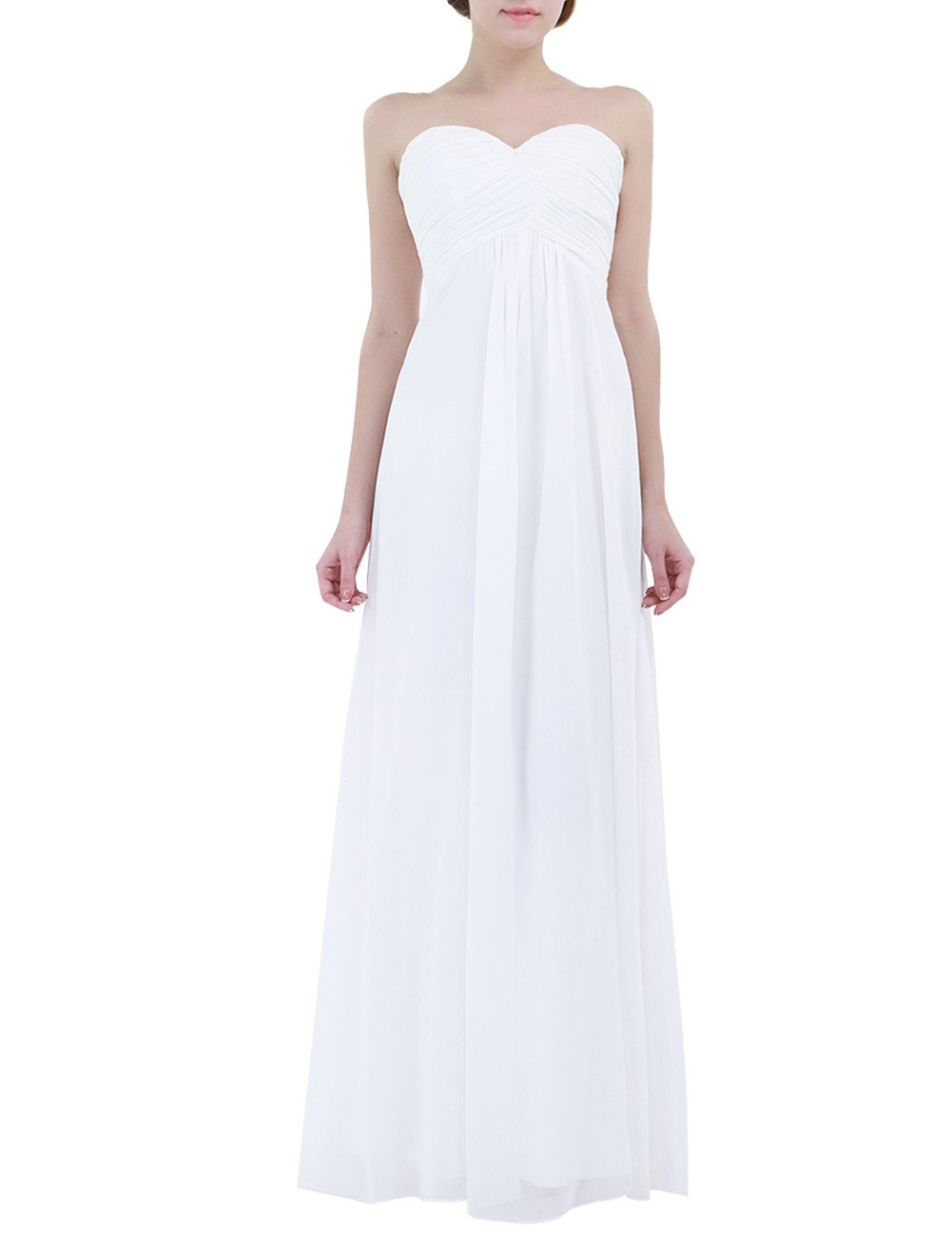 iiniim Vestido Largo Chiffón Elegante Vestido de Ceremonia de Dama de Honor de la Novia Boda
