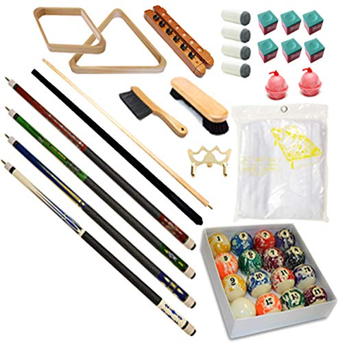(Pool Table - Premium Billiard 32 Pieces Accessory Kit - Pool Cue Sticks Bridge Ball Sets (Kit-13))