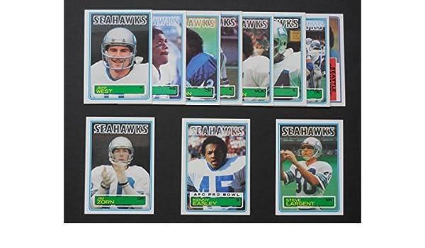 Seattle Seahawks 1983 Topps Football Team Setkenny Easley