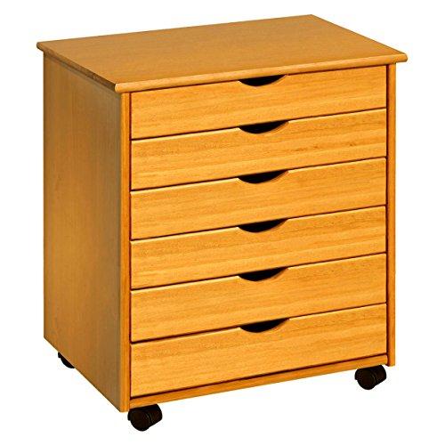 ADEPTUS 76152 Wide 6 Drawer Roll Cart, Medium (Art Cabinet)