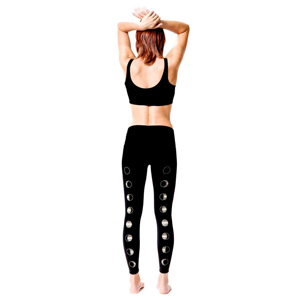 Teeki Moon Dance Black Yoga Leggings: Amazon.es: Deportes y ...