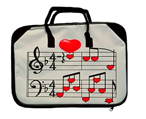 Music Treasures Co. Heart/Staff Briefcase (Music Book Carrying Case)