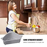 Sink Strainer Basket,Triangular Sink Drain Shelf