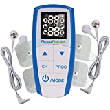 AccuRelief Complete 3-in-1 TENS Unit, EMS, Massager Device - Pain Relief Electric Muscle Stimulator with 4 Electrodes for Neck, Back, and Full Body - FDA and OTC Approved