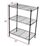 GZYF 3 Tier Shelving Wire Rack Shelf Metal Shelves Adjustable 23''X13''X30'' 1 PC