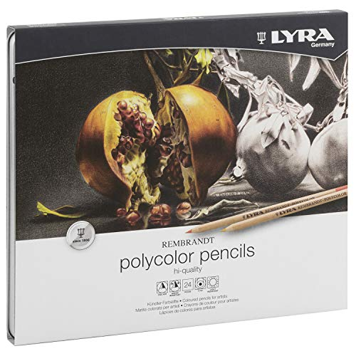 - Lyra Rembrandt Polycolor Colored Pencils, Set of 24, Assorted Colors (2001240)