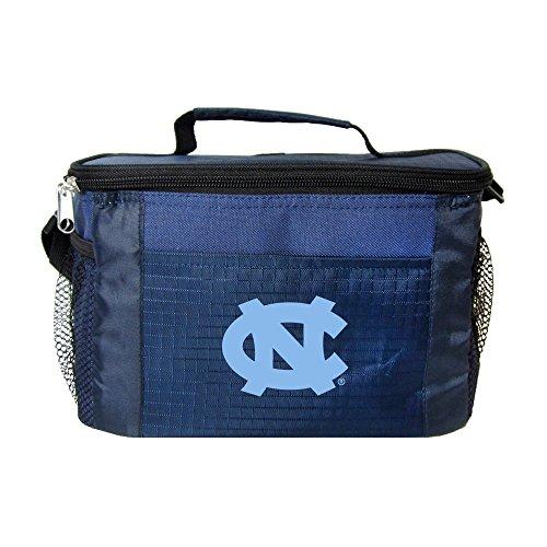 NCAA North Carolina Tar Heels Insulated Lunch Cooler Bag with Zipper Closure, Navy North Carolina Bag