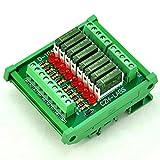 ELECTRONICS-SALON Slim DIN Rail Mount DC24V Sink/NPN 8 SPST-NO 5A Power Relay Module, PA1a-24V
