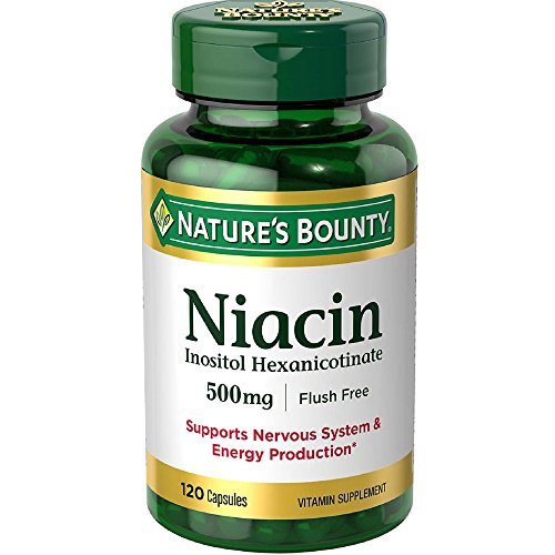 Nature's Bounty Niacin 500 mg capsules 120 ea ( Pack of 11) by Nature's Bounty