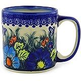 Polish Pottery Coffee Tea Mug 12 oz Butterfly Splendor
