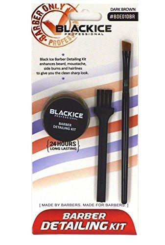 Black Ice Professional Barber Detailing Kit Dark Brown BDE01