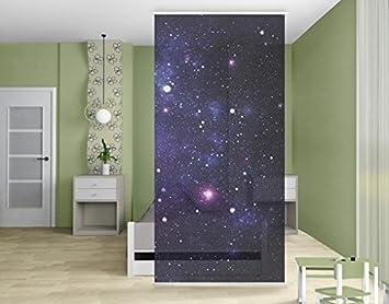 Rideaux Coulissants Design Séparation Avec Motif De Galaxie Amazon
