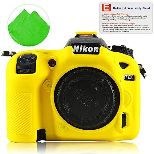 Yellow Rubber Camera Case Bag for Nikon D7100 D7200 - 1