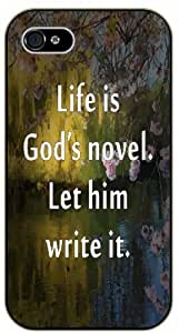 "iPhone 6 (4.7)"" Life is God's novel. Let him write it - Bible verse black plastic case / Christian Verses"