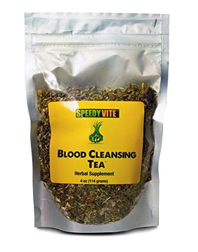 SpeedyVite Blood Cleansing Tea 4oz Organic –Cleanses & supports natural removal of excess waste chemicals from the blood stream Chaparral Echinacea Chamomile. Herbal Supplement