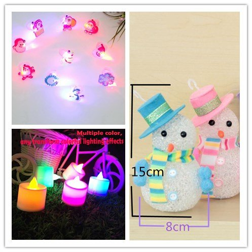Funny Halloween Costumes One Night Stand (Christmas three-piece set.1Pc Christmas Snowman Snowflake Santa Claus LED Night Lights+1Pc Color Flameless LED Electronic Candle Light Tealight+1Pc Christmas Child Gift Hot Selling Fla)